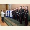 Участников мероприятия приветствуют кадеты и воспитанники Свято-Алексеевской пустыни